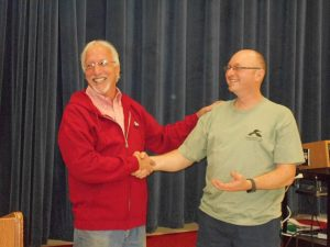 Outgoing President Tom Duffy with Incoming President John Decker