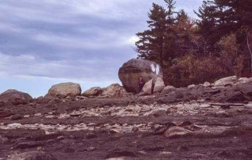 1985 rock at southwest corner of Horse Island