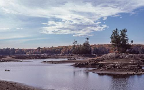 1985 view south from North Channel, Turtle Rock in foreground