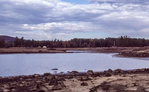 1985 west view from center of Horse Island