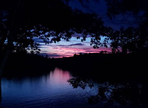 mountain brook sunset