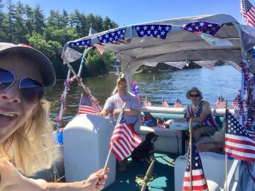 boat parade patriotic fanatic