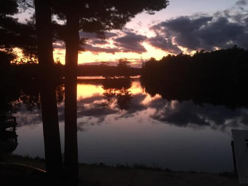 south channel dark sunset